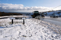 Press Eye - Belfast - Northern Ireland - 12th February 2020. A tractor and cars on the Glenshane Pass.. Picture by John Stafford/Presseye