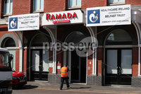 Press Eye - Belfast - Northern Ireland - 6th April 2020 -  . General view of the Ramada Hotel in Belfast City Centre which will act as a Community Step Down Centre alongside hospitals in Northern Ireland. . Photo by Kelvin Boyes / Press Eye..  .