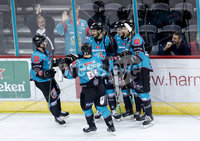 Press Eye - Belfast -  Northern Ireland - 10th October 2018 - Photo by William Cherry/Presseye. Belfast Giants\' Patrick Dwyer celebrates scoring against the Guildford Flames during Wednesday nights Elite Ice Hockey League game at the SSE Arena, Belfast.        Photo by William Cherry/Presseye