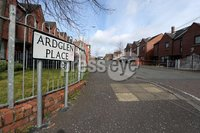 Press Eye - Belfast - Northern Ireland - 6th April 2020 - . General view of Ardglen Place, Ardoyne where a man was stabbed last night. . Police said they were approached by a 29-year-old man on Etna Drive who said three men had stabbed him in the arm and back while he was in a stationary car.. Photo by Kelvin Boyes / Press Eye..