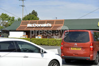 Presseye. 2nd June 2020 . McDonalds restaurants in Bangor and Newtownards reopened on Tuesday for drive thru only with new measures in place to keep customers and staff safe following a successful pilot in May.. General views of McDonalds in Bangor which opened at 11 am for drive thru customers.. . Photo by Stephen Hamilton/Presseye