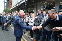 Press Eye - Belfast - Northern Ireland - 22nd May 2019 - . The Prince of Wales meets members of the public outside at the Grand Central Hotel in Belfast during their 2 day visit to Northern Ireland. . Photo by Kelvin Boyes / Press Eye.