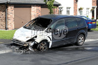 Press Eye - Arson Attack - 14thJuly 2019. Police are appealing for witnesses following an arson attack on a car in the Lagmore View Road area of Dunmurry during the early hours of this morning, Sunday 14 July.. It was reported that at around 4.30am a black Ford SMAX parked outside a property in the area was set on fire.  Police and NIFRS responded and the fire was extinguished.  The car was destroyed as a result of the fire.  Two males, believed to have been involved in the incident, made off on bicycles in the direction of Lagmore Dale.