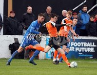 Danske Bank Premiership Play Off Loughshore Hotel Arena, Carrickfergus. Wednesday 9 May 2018. Carrick Rangers FC vs Newry City FC. Mark Surgenor Carrick. Mandatory Credit ©INPHO/Freddie Parkinson