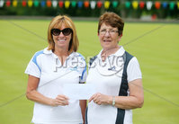 Press Eye Belfast - Northern Ireland 14th July 2017. Bangor Open Bowls Competition at Bangor Bowling Club. . Left to right.  Sharyn Jess and Sandra Bailie from Northern Ireland Civil Service Bowling Club who won the Ladies Pairs competition.  . Picture by Jonathan Porter/PressEye.com.