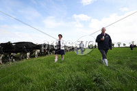 Press Eye - Belfast - Northern Ireland - 20th May 2020 -  . First Minister Arlene Foster and Agriculture Minister Edwin Poots visit a dairy farmfollowing the announcement that the beef, dairy and horticulture sector will receive a 25 million to deal with the impacts of Covid-19.. The Ministers  are pictured at Hollowbridge Farm, which produces ice cream on-site from their own dairy herd with owner Stephen Gibson and his son Stuart.. Photo by Kelvin Boyes / Press Eye..