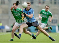 GAA Football All Ireland Senior Championship Quarter-Final, Croke Park, Dublin 2/8/2015. Dublin vs Fermanagh. Fermanagh's Ruairi Corrigan and Brian Fenton of Dublin. Mandatory Credit ©INPHO/James Crombie.