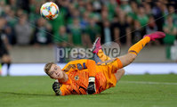 Press Eye - Belfast -  Northern Ireland - 09th September 2019 - Photo by William Cherry/Presseye . Northern Ireland\'s Bailey Peacock-Farrell during Monday nights European Championship Qualifier at the National Stadium at Windsor Park, Belfast.  Photo by William Cherry/Presseye