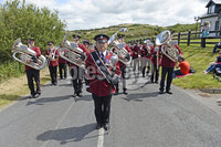 3rd  July 2019. Marchers take part in the annual Rossnowlagh orange parade in County Donegal, Republic of Ireland ahead of the main demonstrations in Northern Ireland. The Twelfth in Donegal has been held in Rossnowlagh since the 1900s and has taken place there every year since 1978.. Approximately 50 lodges from the border counties of Donegal, Cavan, Leitrim and Monaghan, as well as visiting Orangemen from Dublin and Wicklow, Northern Ireland and further afield, took part in the main parade.. Mandatory Credit / Stephen Hamilton/Presseye.