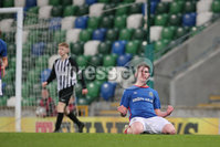 PressEye - Belfast - Northern Ireland - 06th May 2019. Harry Cavan Youth Cup Final. Linfield Rangers vs St. Oliver Plunkett. Pictured: Linfield Rangers\' Callum McVeigh celebrates.. Picture: Philip Magowan / PressEye