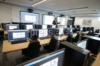 Press Eye - Belfast - Northern Ireland - 19th June 2019 . PSNIs Cyber Crime Centre officially opens in south Belfast.  The unit which deals with high end cyber crime has been in the new 4.3 million facilely for over a year.  Detective Superintendent Richard Campbell, Head of PSNI\'s Cyber Crime Unit, in the training room. . Photo by Jonathan Porter / Press Eye .