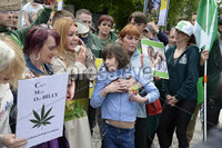 1st June 2019. Charlotte and Billy pictured  at City Hall in Belfast during a demonstration on behalf of Charlotte and Billy Caldwell .Billy, 13, suffers from a severe, life-threatening form of epilepsy for which cannabis oil is the most effective treatment and unfortunately his supply is at a critically low point.. Mandatory Credit-Presseye/Stephen Hamilton
