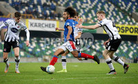 Unite the Union Champions Cup First Leg, National Football Stadium at Windsor Park, Belfast 8/11/2019. Linfield vs Dundalk. Linfield\'s Bastien Hery. Mandatory Credit  INPHO/Brian Little