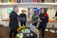 Press Eye - Belfast - Northern Ireland - 15th February 2020. Secretary of State BrandonLewis.  meets young people from a variety of groups at Belvoir Youth Centre in south Belfast. He listened to their concerns & aspirations for the future. Picture Matt Mackey / Press Eye.