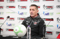Press Eye - Belfast - Northern Ireland - 5th February 2020 - . NIFL  Bet McLean League Cup Final press night at the National Stadium.. Stephen Baxter from Crusaders FC . Photo by Kelvin Boyes / Press Eye.