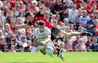 Ulster GAA Senior Football Championship Final, St Tiernach\'s Park, Clones, Co. Monaghan 16/7/2017. Down vs Tyrone. Down\'s Peter Turley with Tiernan McCann of Tyrone. Mandatory Credit ©INPHO/Morgan Treacy
