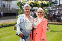 Press Eye - Belfast - Northern Ireland - 22nd June 2019 - . Summer Festival Of Racing Day 2 at Down Royal Racecourse.. Gillian and Robyn Allison pictured at Down Royal Racecourse.. Photo by Kelvin Boyes / Press Eye.