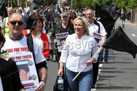 Press Eye - Time for Truth March - Belfast - 9th June 2019. Photograph by Declan Roughan. Sinn Fin Leas Uachtarn Michelle O\'Neill joined today\'s Time for Truth March at Divis Street.