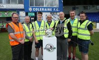 PressEye-Northern Ireland- 27th   July  2018-Picture by Brian Little/PressEye. SuperCupNI. Minor  Section . Coleraine Showground stewards  at Greenisland      against Bertie Peacock Youths       during the SuperCupNI Minor Final  at Coleraine Showgrounds. . Picture by Brian Little/PressEye