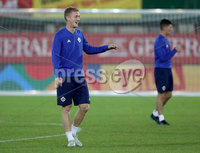 Press Eye - Belfast -  Northern Ireland - 11th October 2018 - Photo by William Cherry/Presseye. Northern Ireland\'s George Saville during Thursday nights training session at the Ernst Happel Stadium in Vienna, ahead of their UEFA Nations League game against Austria.