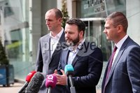 Press Eye - Belfast - Northern Ireland - 20th May 2019 -  . Mark H Durkan and Colum Eastwood pictured at a press conference at the Stormont Hotel following meetings with the political parties.. Photo by Kelvin Boyes  / Press Eye..