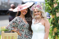 Press Eye - Belfast - Northern Ireland - 22nd June 2019 - . Summer Festival Of Racing Day 2 at Down Royal Racecourse.. Belle Azzure and Annette Kelly pictured at Down Royal Racecourse.. Photo by Kelvin Boyes / Press Eye.