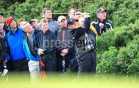 ©Press Eye Ltd Northern Ireland -30th June 2012. Mandatory Credit - Picture by Darren Kidd/Presseye.com .  . 2012 Irish Open at Royal Portrush..  Day 3 - Jamie Donaldson on the 18th