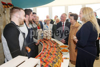 Press Eye - Belfast - Northern Ireland - 16th May 2018. First day of the 2018 Balmoral Show, in partnership with Ulster Bank, at Balmoral Park.  HRH Princess Anne attend the Balmoral show and visits Ulster Bank\'s marquee.  She was guided round by Richard Donnan - Head of Northern Ireland at Ulster Bank and Lynsey Cunningham Regional Director, Entrepreneurship at Ulster Bank.  Princess Anne is pictured chatting to Wolf and Woodsman\'s David Knowles, Andy Laverty and Jonny Laverty.  Wolf and Woodsman was one of the companies provided with free space by Ulster Bank to exhibit in its marquee. The companies include Ulster Bank customers and entrepreneurs from the bank\'s Entrepreneur Accelerator.. Picture by Jonathan Porter/PressEye