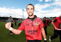 Ulster GAA Football Senior Championship Semi-Final, Morgan Athletic Grounds 24/6/2012. Down vs Monaghan. Down\'s Conor Laverty celebrates after the game. Mandatory Credit ©INPHO/Morgan Treacy