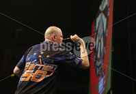 Press Eye - Northern Ireland - 20th April 2017 - Photographer - © Matt Mackey / Presseye.com. Betway Premier League Darts, Night 12, The SSE Arena, Belfast.. Michael van Gerwen v Raymond van Barneveld. Raymond van Barneveld.