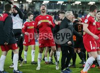 Tennent\'s Irish Cup Quarter-Final, Windsor Park, Belfast 13/3/2018 . Linfield vs Cliftonville. Cliftonville celebrate after the game. Mandatory Credit ©INPHO/Jonathan Porter