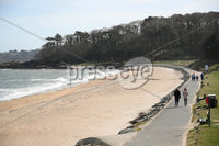 Press Eye - Belfast - Northern Ireland - 30th March 2020 - . General view of Helens Bay beach in County Down, Northern Ireland.. Photo by Kelvin Boyes / Press Eye..
