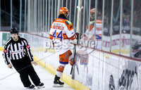 Press Eye - Belfast -  Northern Ireland - 06th January 2019 - Photo by William Cherry/Presseye. Sheffield Steelers\' Ryan Martinelli is sent to the Penalty Box during Sunday afternoons Elite Ice Hockey League game against the Belfast Giants at the SSE Arena, Belfast.    Photo by William Cherry/Presseye