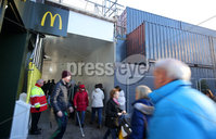 Press Eye - Belfast - Northern Ireland - 3rd December 2018. A walk way opens in Belfast City Centre connecting the roads around Primark which gutted by a fire in August.  Shops in the area, which have been closed since August, were also able to reopen. . Picture by Jonathan Porter/PressEye