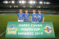 PressEye - Belfast - Northern Ireland - 06th May 2019. Harry Cavan Youth Cup Final. Linfield Rangers vs St. Oliver Plunkett. Pictured: Linfield Rangers goal scorers, Ross Weatherup, Graham Kennedy, Jake Corbett, and Callum McVeigh.. Picture: Philip Magowan / PressEye