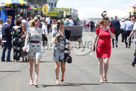 Press Eye - Belfast - Northern Ireland - 22nd June 2019 - . Summer Festival Of Racing Day 2 at Down Royal Racecourse.. Racegoers pictured at Down Royal Racecourse.. Photo by Kelvin Boyes / Press Eye.