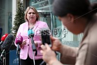 Press Eye - Belfast - Northern Ireland - 20th May 2019 -  . Secretary of State for Northern Ireland Karen Bradley  pictured at a press conference at the Stormont Hotel following meetings with the political parties.. Photo by Kelvin Boyes  / Press Eye..
