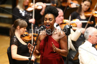 Press Eye - Belfast -  Northern Ireland - 14th December 2015 - Photo by William Cherry. Dana Masters pictured at the BBC Radio Ulster 40th Birthday gala concert at the Ulster Hall, Belfast.