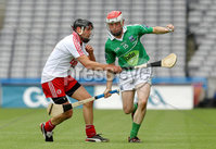 Lory Meagher Final, Croke Park, Dublin 9/6/2012. Fermanagh vs Tyrone. Fermanagh\'s Paul McGoldrick and Mike O\'Gorman of Tyrone. Mandatory Credit ©INPHO/Ryan Byrne