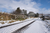Press Eye - Belfast - Northern Ireland - 12th February 2020. Travel with care on snow covered roads near the Glenshane Pass.. Picture by John Stafford/Presseye