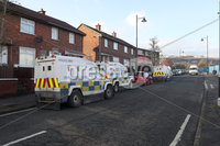 Press Eye - Security Alert - Ardoyne Road - Belfast - 12th February. Police are investigating reports of two suspicious devices being left in the Ardoyne Road and Antrim Road areas of north Belfast. Officers received reports shortly before 1pm on Wednesday afternoon.. The first report was that a device had been left in the vicinity of a school on the Ardoyne Road, while the second report was in connection with a device being left in the vicinity of a premises on the Antrim Road.. Following police searches of the Antrim Road area, no device was located. No roads were closed and no homes or businesses were evacuated during the search.Police are currently in attendance at a security alert in the Ardoyne Road area where searches are ongoing..