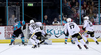 Press Eye - Belfast -  Northern Ireland - 13th January 2018 - Photo by William Cherry/Presseye. Belfast Giants Sebastien Sylvestre scoring the go ahead goal with 22 seconds remaining against Nottingham Panthers during Saturday nights Elite Ice Hockey League game at the SSE Arena, Belfast.