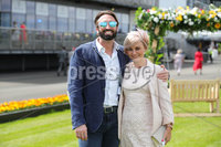 Press Eye - Belfast - Northern Ireland - 22nd June 2019 - . Summer Festival Of Racing Day 2 at Down Royal Racecourse.. Dino Paludini and Karen Devlin pictured at Down Royal Racecourse.. Photo by Kelvin Boyes / Press Eye.