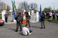 Press Eye - Belfast - Northern Ireland - 20th April 2019 -  . General view of an Easter Republican commemoration in the Kilwilkee Housing Estate, Lurgan, County Armagh organised by Republican Sinn Fein.. Photo by Kelvin Boyes  / Press Eye..