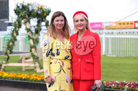Press Eye - Belfast - Northern Ireland - 22nd June 2019 - . Summer Festival Of Racing Day 2 at Down Royal Racecourse.. Claire Rutherford and Emma Meehan pictured at Down Royal Racecourse.. Photo by Kelvin Boyes / Press Eye.