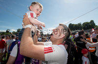 Ulster GAA Senior Football Championship Final, St Tiernach\'s Park, Clones, Co. Monaghan 16/7/2017. Down vs Tyrone. Tyrone\'s Ronan O\'Neill celebrates with young Ollie Donnelly after the game. Mandatory Credit ©INPHO/Morgan Treacy