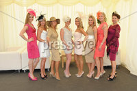 ©Press Eye Ltd Northern Ireland - 23rd  June  2012. Magners festival of racing at Down Royal. .Victoria Maclynn,Amy Eastwood,Elaine Baird,Alanah Prause,Jane Thompson,Leigh Warmington,Ruth Ellen Logan,Dawn Whalley. Mandatory Credit - Picture by Stephen Hamilton /Presseye.com. . .