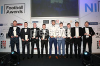 . Press Eye - Belfast - Northern Ireland - 13th May 2019 . Northern Ireland Football Awards at the Crowne Plaza Hotel, Belfast. . Photo by Declan Roughan / Press Eye.. Belleek Premier Intermediate League Team of the Year. . The Premier Intermediate League Team of the Year with NIFL Managing Director Andrew Johnston. .