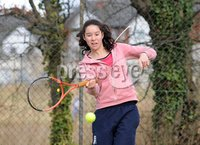 Presseye Ltd Northern Ireland 4th March 2012. Mandatory Credit - Photograph by Declan Roughan / Presseye. Tennis - Ulster Spring Provincial Match Plays 2012 - Belfast Boat Club 4th March 2012. Lucy Octave from Donaghadee played Laura Reid, from the The Boat Club, in the U16 Girls final