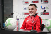 Press Eye - Belfast - Northern Ireland - 5th February 2020 - . NIFL  Bet McLean League Cup Final press night at the National Stadium.. Rory Hale  from Crusaders FC . Photo by Kelvin Boyes / Press Eye.